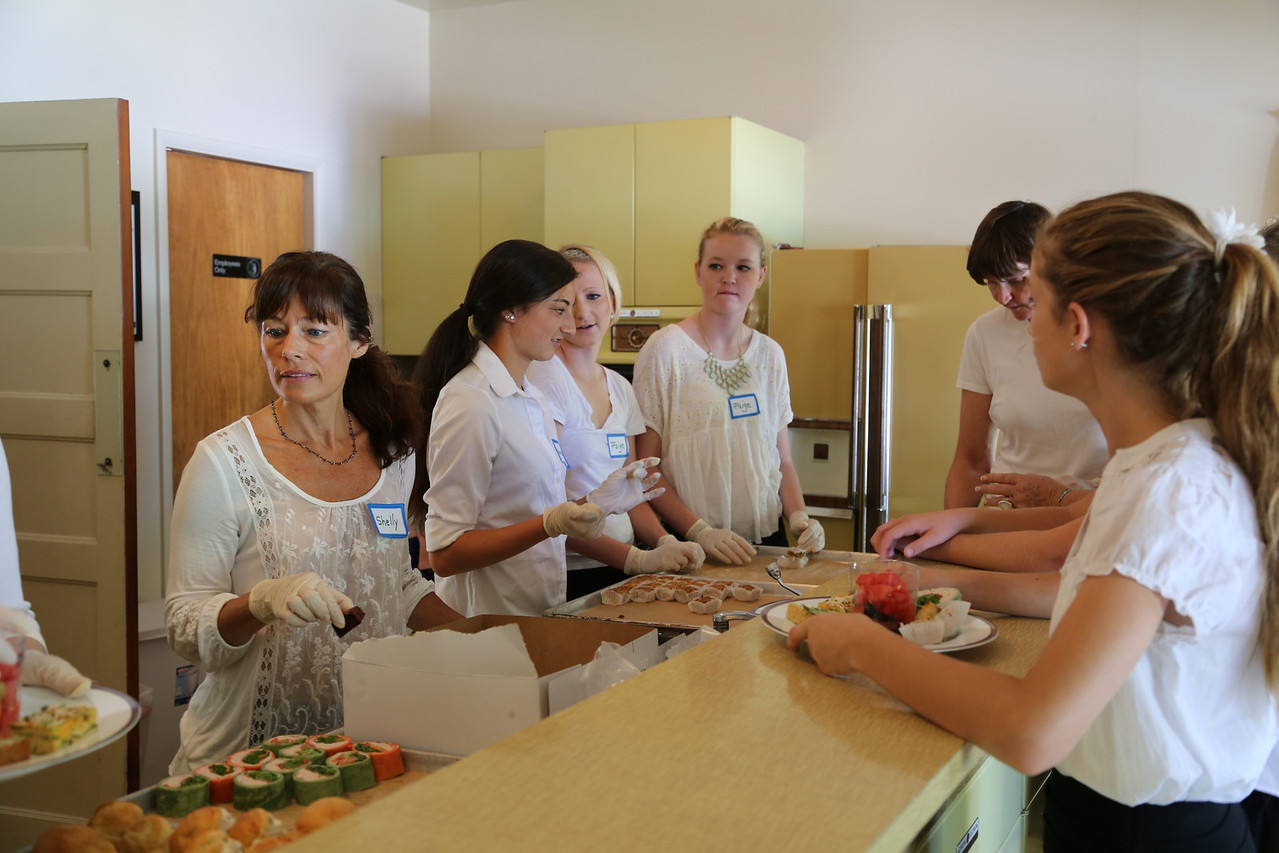In the Kitchen at the<br /> San Ramon Historic Foundation Tea